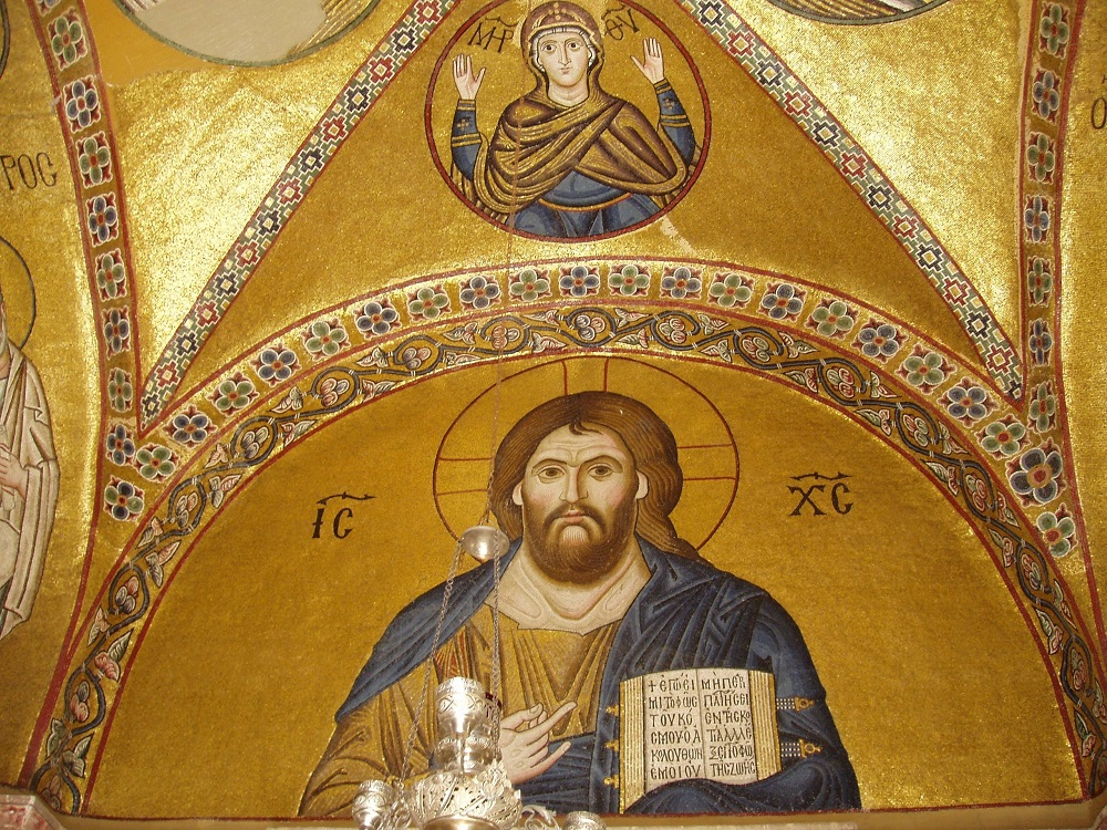 Mosaic In The Monastery Of Osios Loukas In Greece