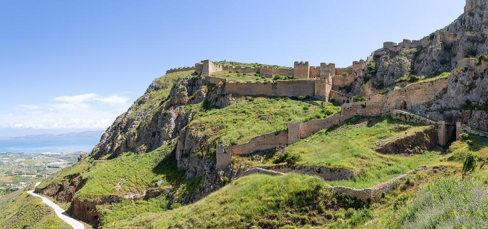Acrocorinth Fortress Peloponnese Greece