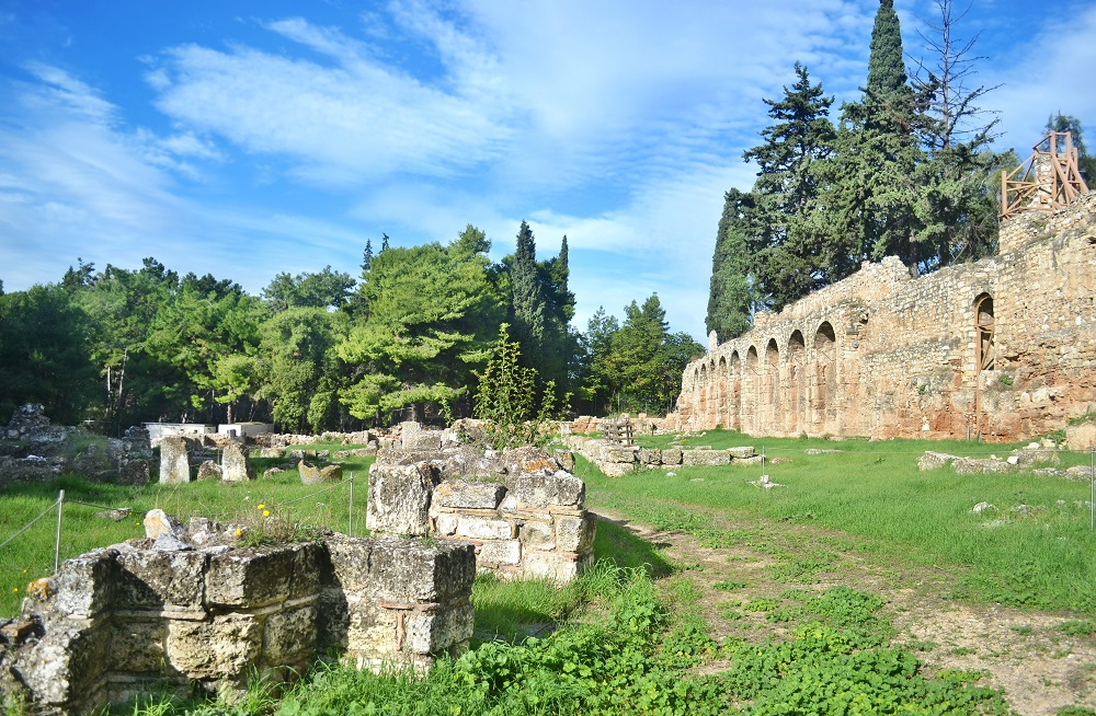 Ancient Daphni Monastery In Athens