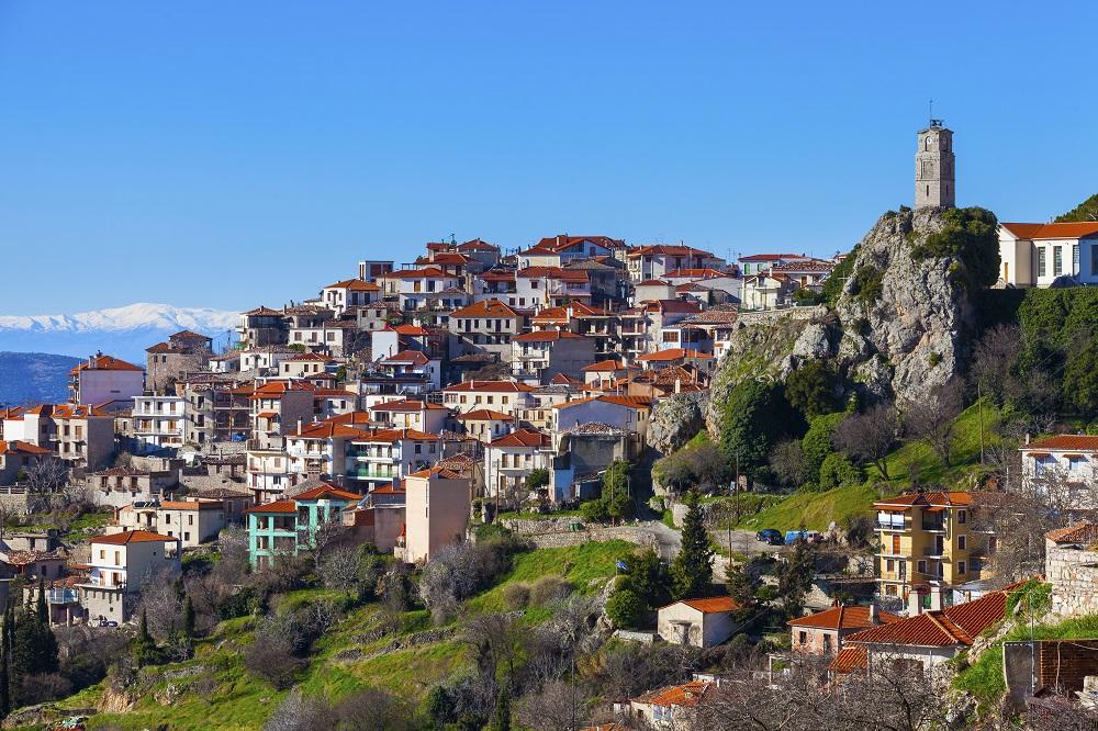 Arachova On Mountain Parnassos Greece