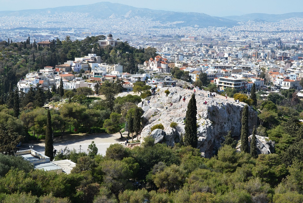 Areopagus Overlooking National Observatory Of Athens