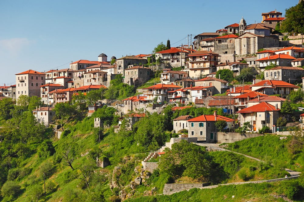 Dimitsana Village In Arcadia Peloponnese Greece