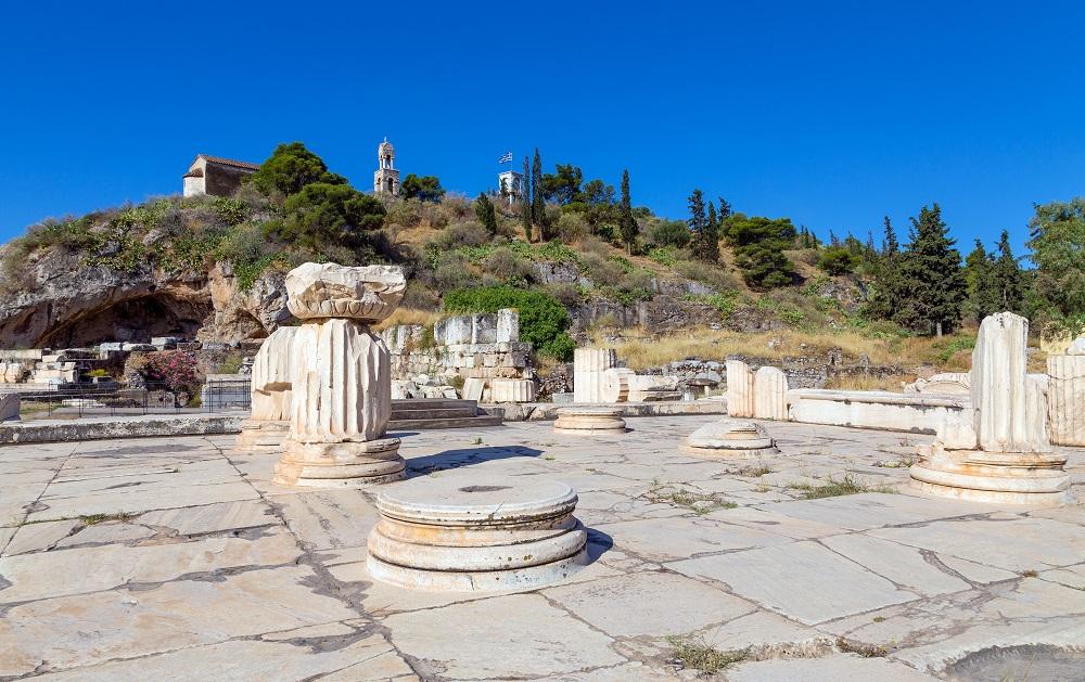 Greater Propylaia Ancient Eleusis Attica Greece