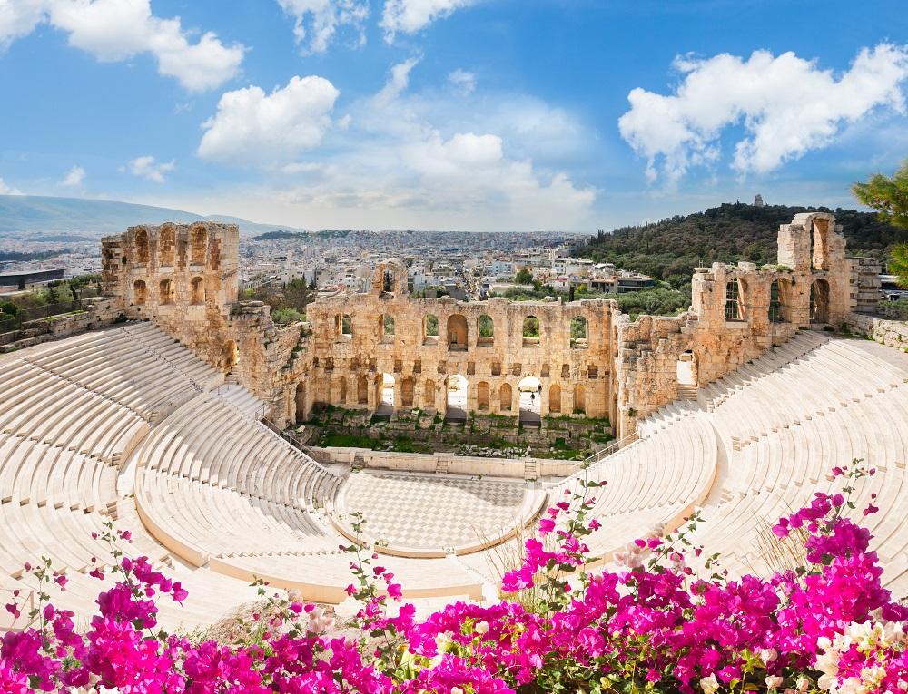 Herodes Atticus Amphitheater Of Acropolis Athens