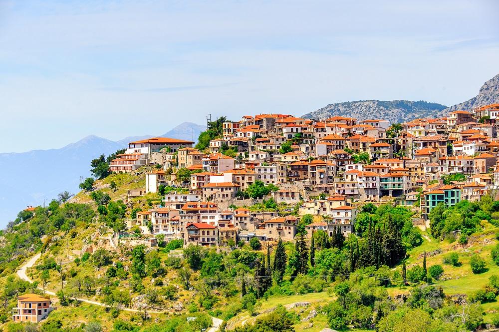 Houses Of Arachova Greece