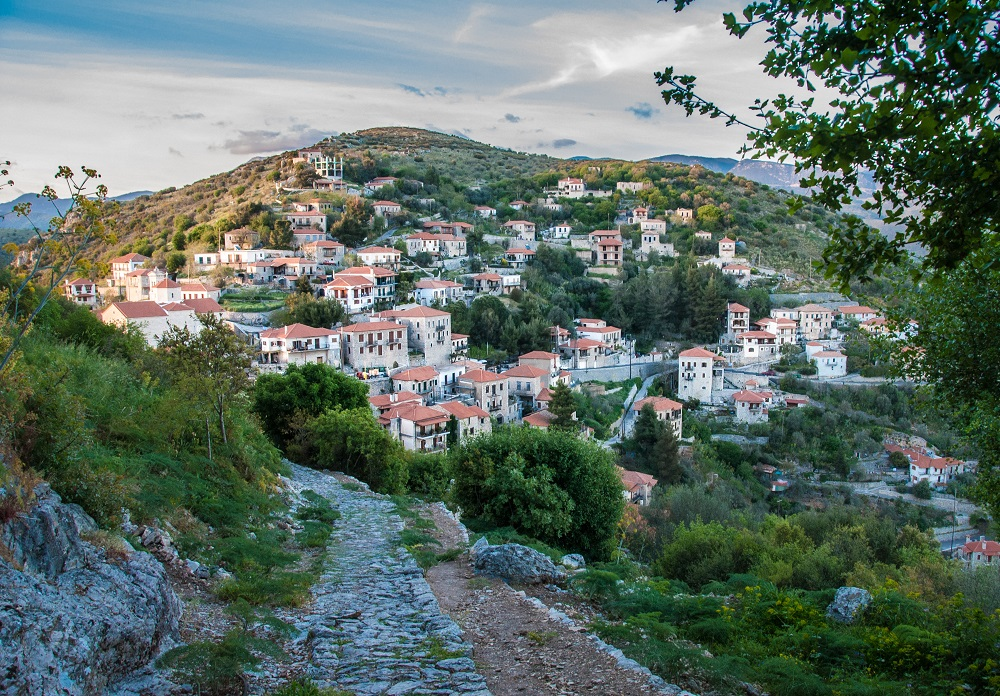 Street View From Karytaina Village In Arcadia Greece