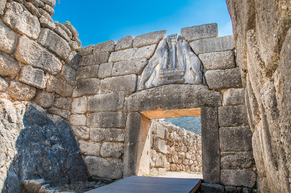 Lion's Gate The Main Entrance Of The Citadel Of Mycenae