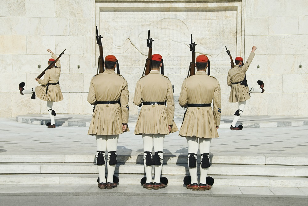 Royal Guards At A Monument Tomb Of The Unknown Soldier