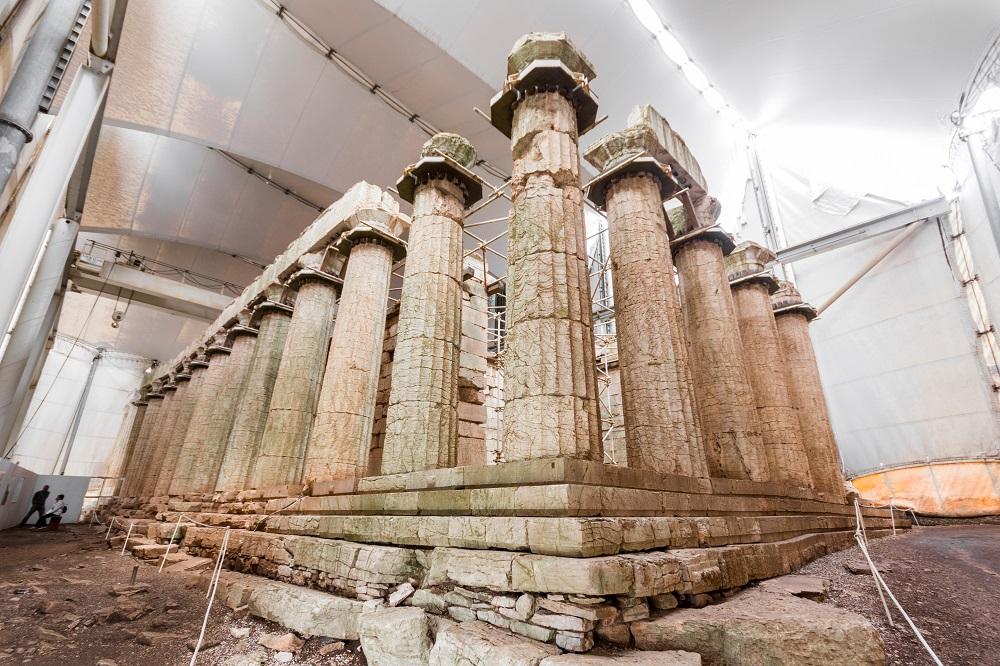 Ruined Columns Of The Temple Of Apollo