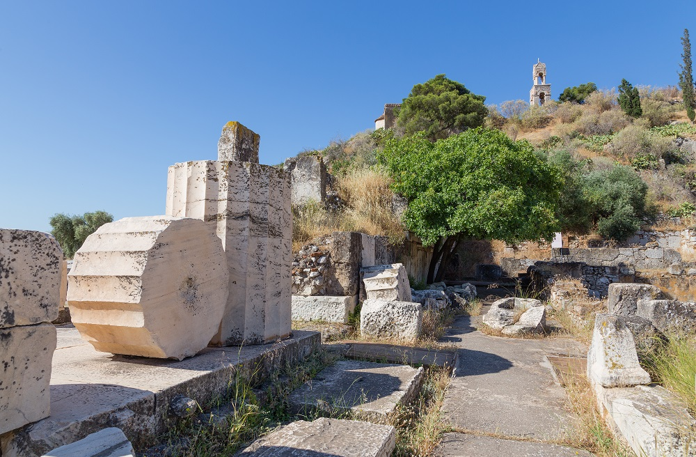 Ruins In The Archaeological Site Of Eleusis