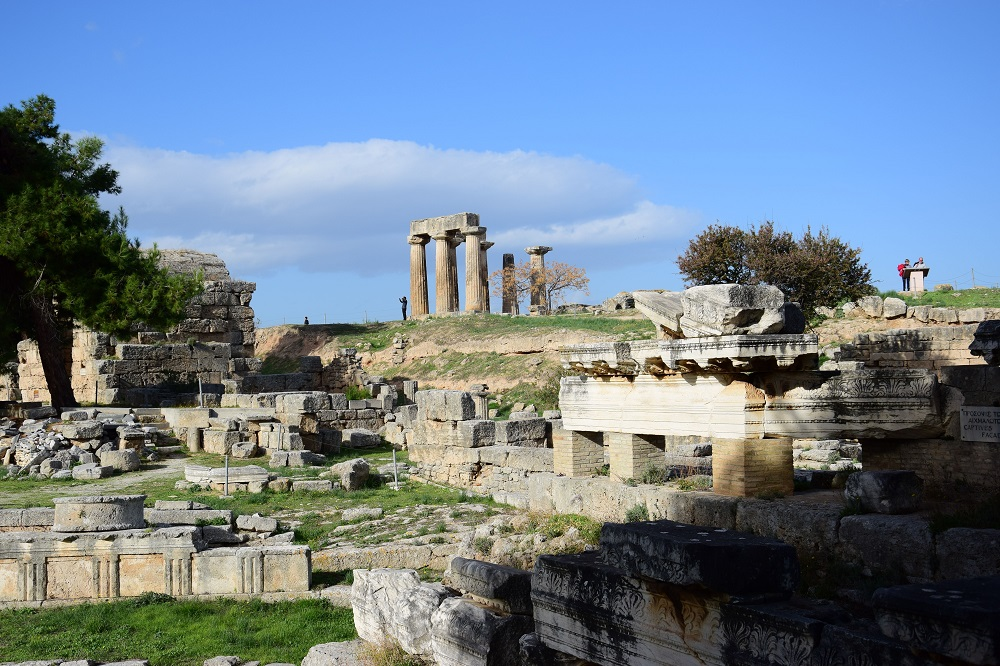 Ruins Of Temple In Corinth Greece 2