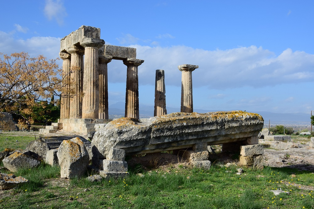 Ruins Of Temple In Corinth Greece