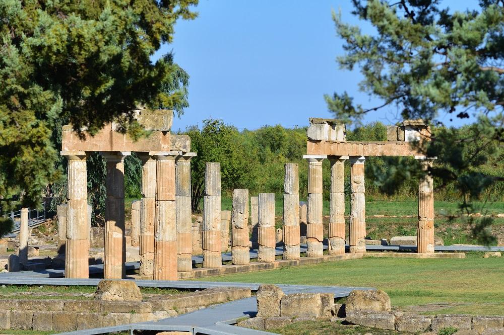 Ruins Of The Temple Artemis Of Vravrona