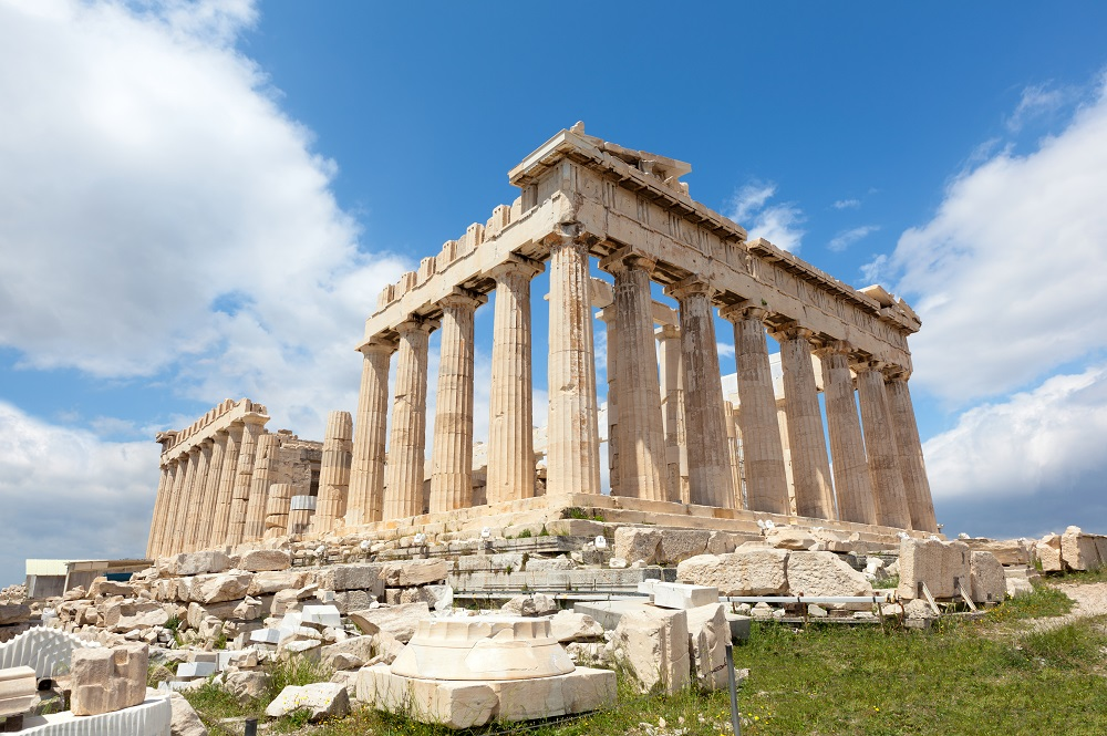 Ruins Of The Temple Parthenon At The Acropolis