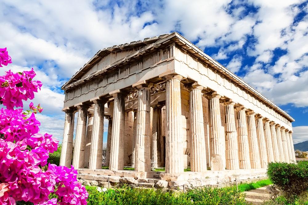 Temple Of Hephaestus In Athens Greece