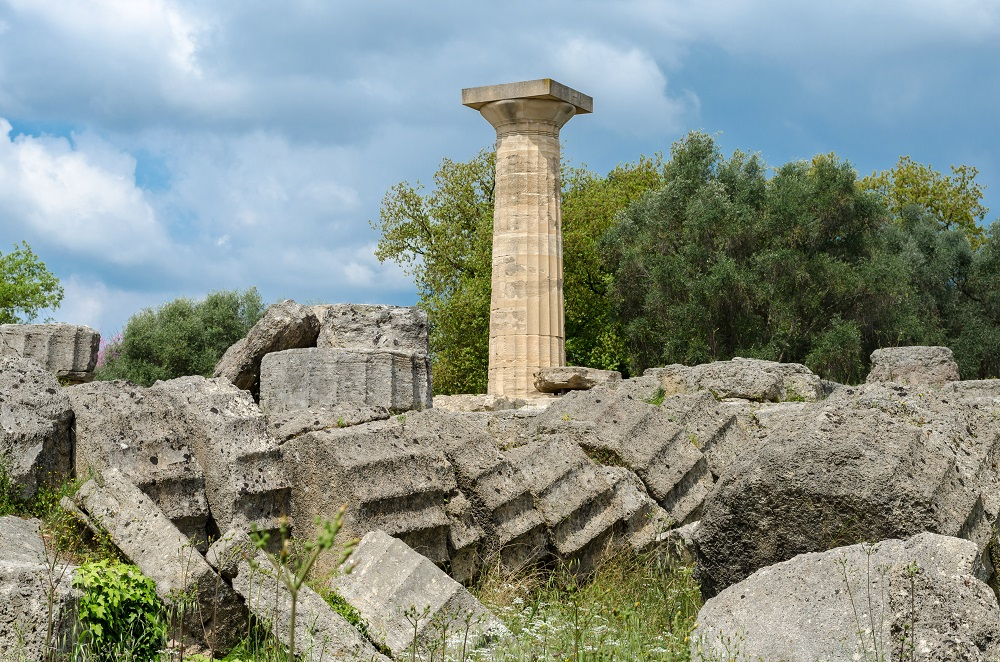 The Archaeological Site Of Ancient Olympia