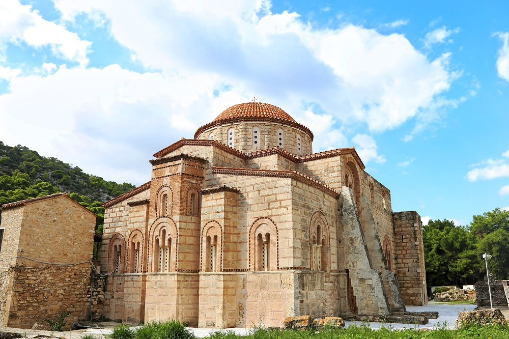 The Old Daphni Monastery In Athens Greece