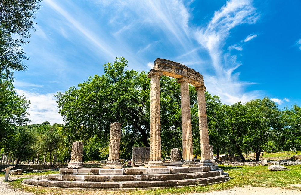 The Philippeion At The Archaeological Site Of Olympia