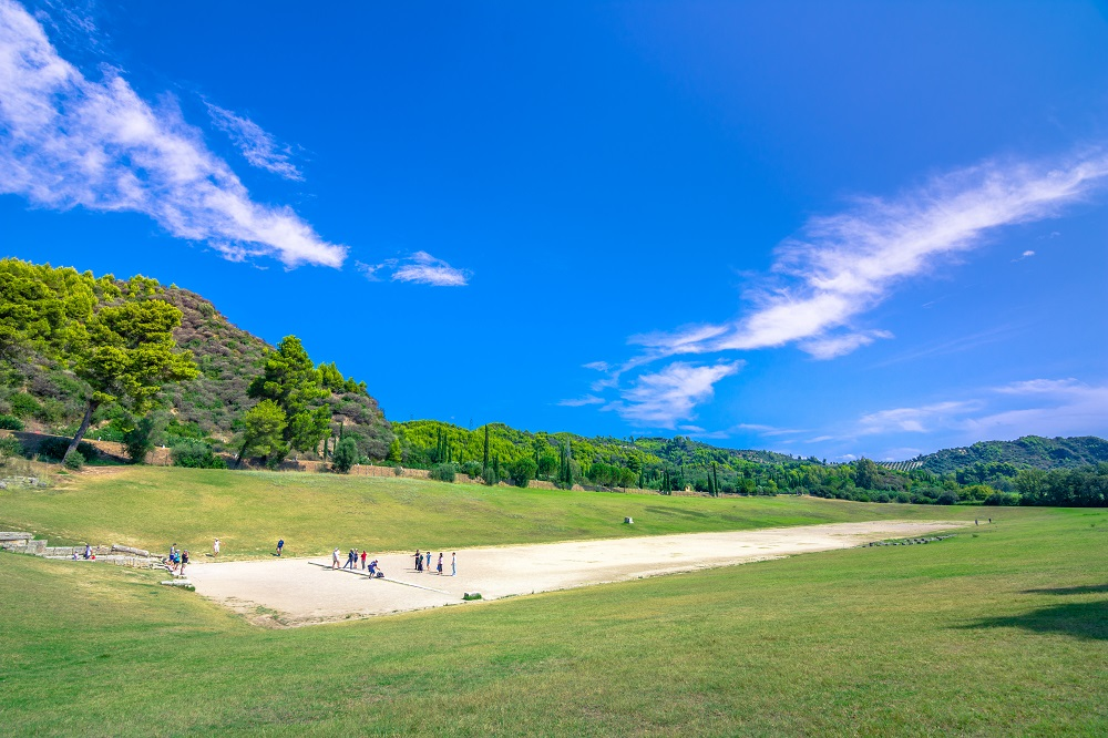 The Ruins Of Ancient Olympia Greece