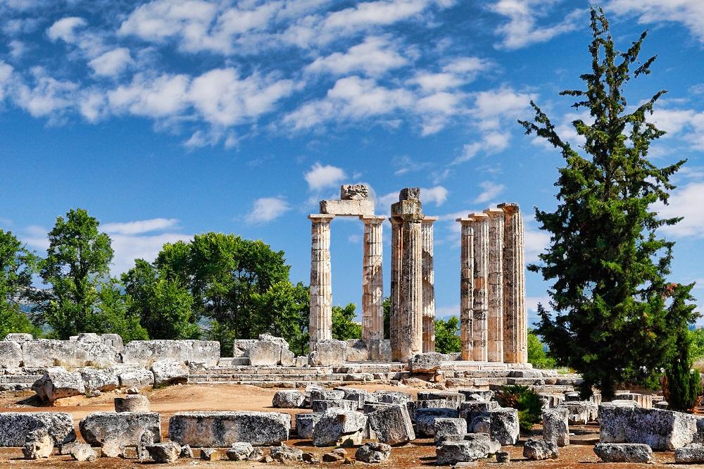 The Temple Of Zeus In Nemea Greece