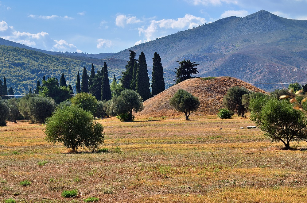 The Tumulus Or Burial Mound Of The 192 Athenian Fallen